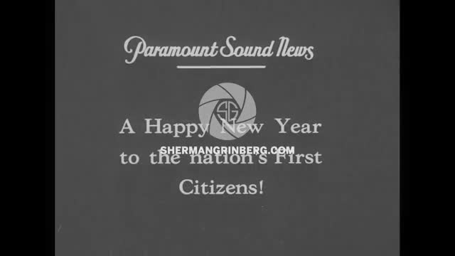 310135bd38a Sherman Grinberg. Paramount. US President Herbert Hoover on New Year s ...